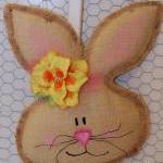Girl Burlap Easter Spring Bunny Doo..