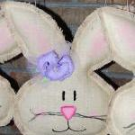 Natural Burlap Girl Easter ..